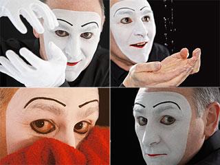 Montaje del espectáculo 'Hand Made' ('Hecho a Mano'), del mimo Carlos Martínez