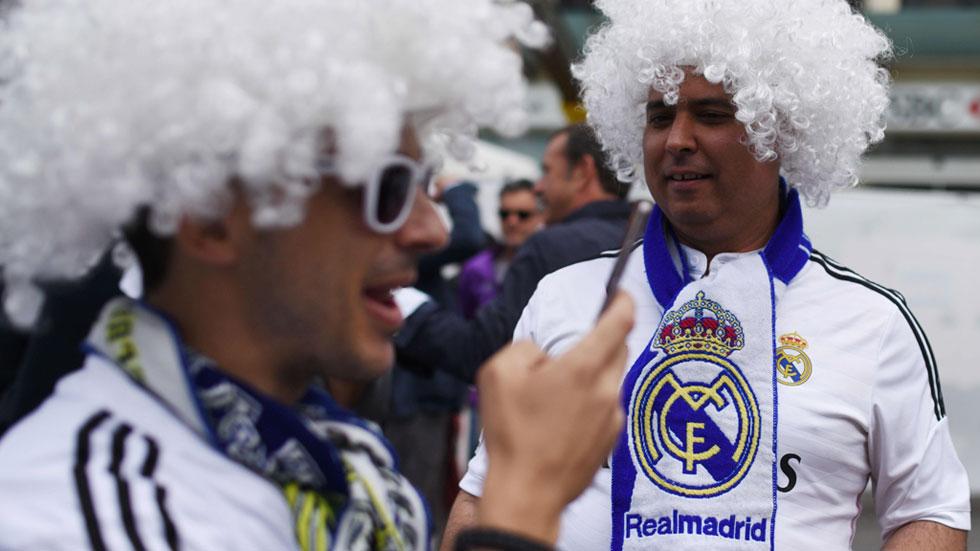Muchos seguidores del Real Madrid han viajado en avión