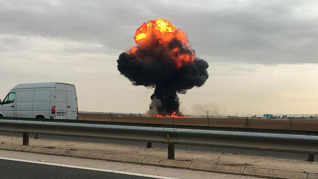 Muere el piloto de un F-18 al estrellarse en Torrejón