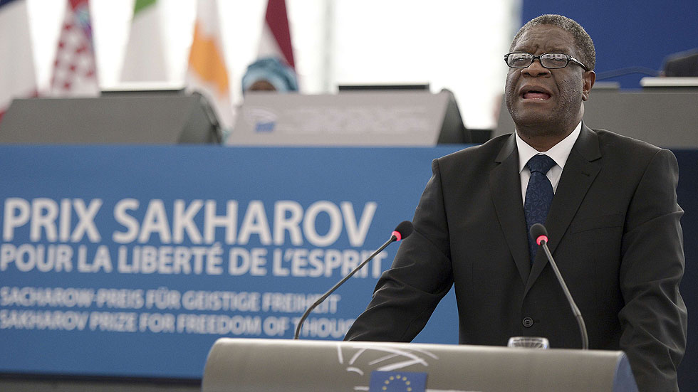 """Mukwege, premio Sájarov 2014: """"La violación se ha convertido en una estrategia de guerra eficaz"""""""