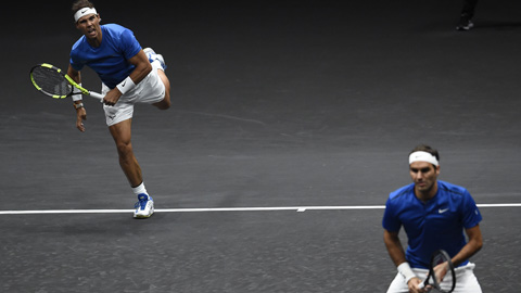 Nadal y Federer ganan su primer doble juntos