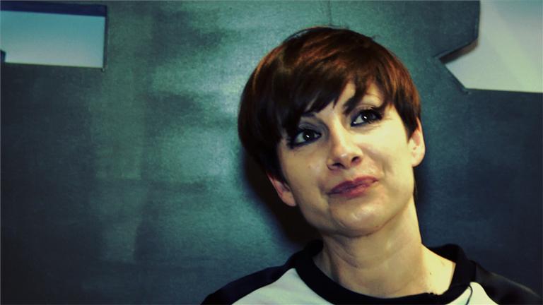Najwa Nimri visita 'Siglo 21'