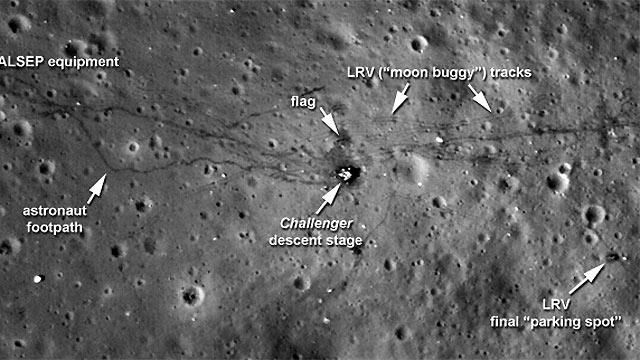 La NASA publica nuevas imágenes de los lugares de alunizaje de las misiones Apolo