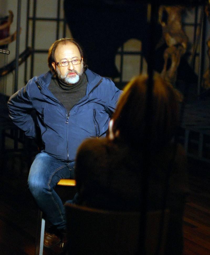 El naturalista Luis Miguel Domínguez, en un momento de la entrevista