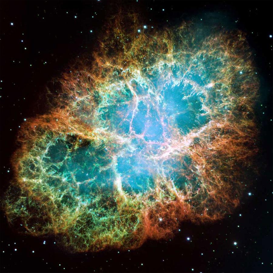 La Nebulosa del Cangrejo, restos de una supernova