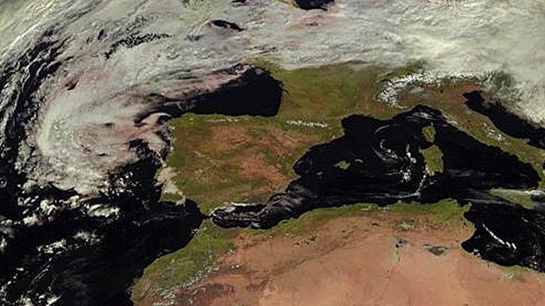 Nubes en el tercio sur de la península