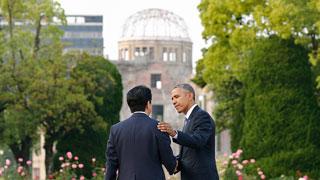 Obama pide un mundo sin armas nucleares en su histórica visita a Hiroshima