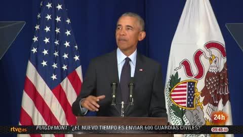 """Obama rompe su silencio político y entra en campaña cargando contra Trump: """"Él es un síntoma, no la causa"""""""