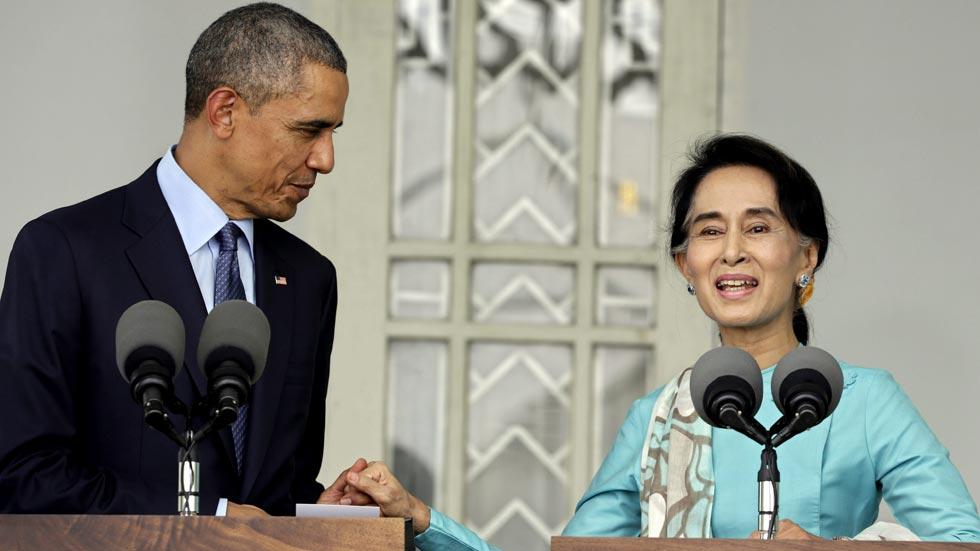 Obama y Suu Kyi piden cambios en la Constitución de Myanmar para avanzar hacia la democracia