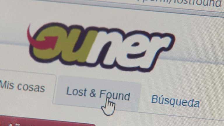 'Ouner', una oficina virtual de objetos perdidos
