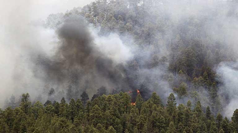 Las altas temperaturas pueden haber reactivado los focos del incendio en La Gomera