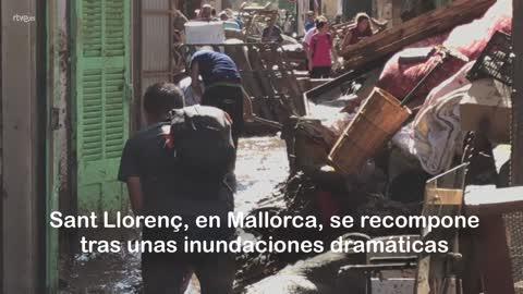 Una ola de solidaridad llega a Sant Llorenç des Cardassar, Mallorca, a raíz de las inundaciones
