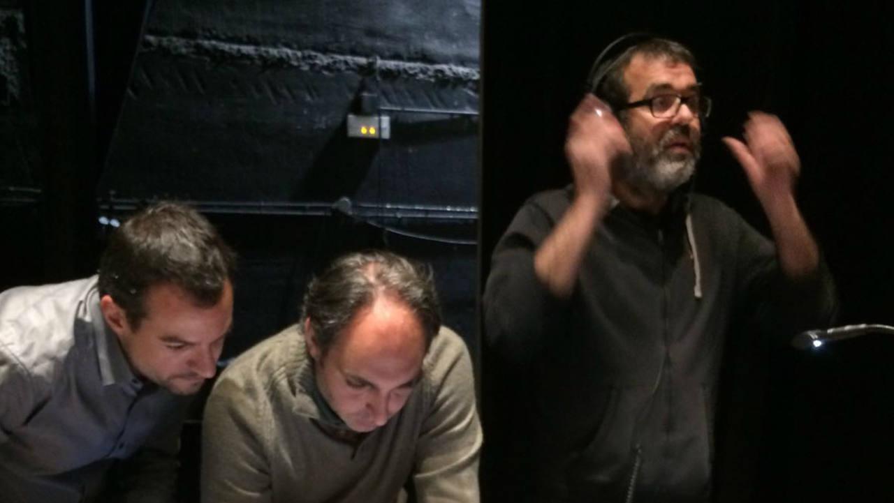 Óscar González, Jesús Alpuente y Daniel Galindo
