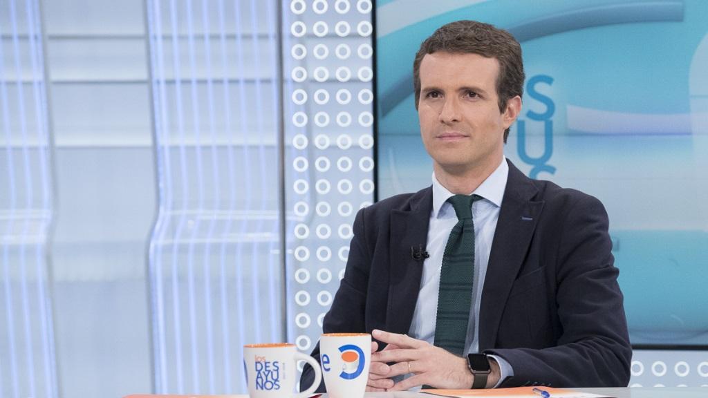 Los desayunos de TVE - Pablo Casado, candidato a la presidencia del Partido Popular