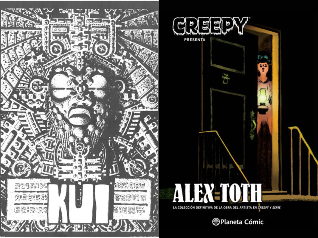 Página y portada de 'Creepy presenta: Alex Toth'