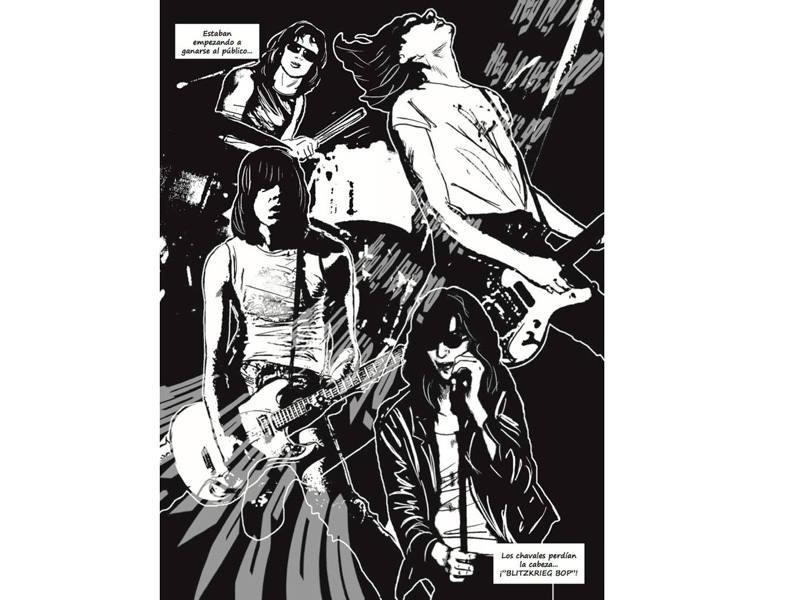 Página de 'Ramones. La novela gráfica'