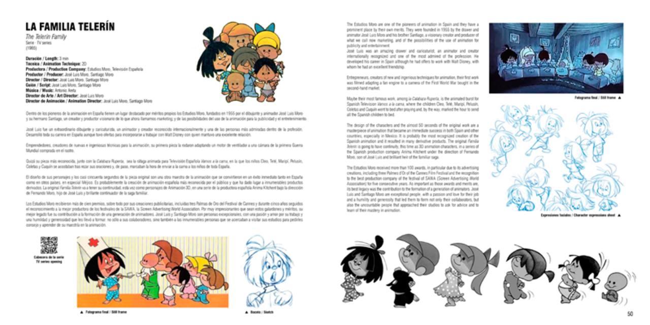 Páginas del libro dedicadas a 'La familia Telerín'
