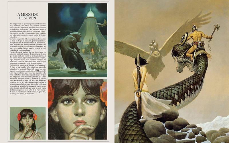 Páginas del libro 'Vicente Segrelles. De oficio ilustrador'