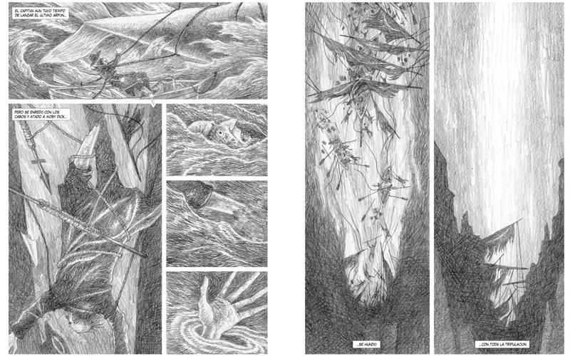 Páginas de 'Moby Dick'