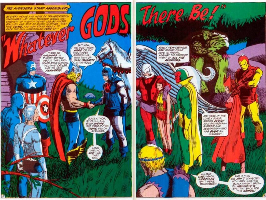 Páginas de Los Vengadores de Barry Smith