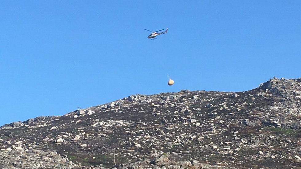 España Directo- Paja para regenerar el monte quemado