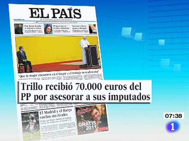 Todos los periódicos recogen la visita del Papa