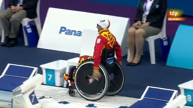 Paralímpicos: Prueba de 50 metros braza, Luque logra la plata