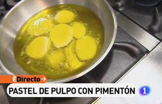 España Directo - Pastel de pulpo con pimentón