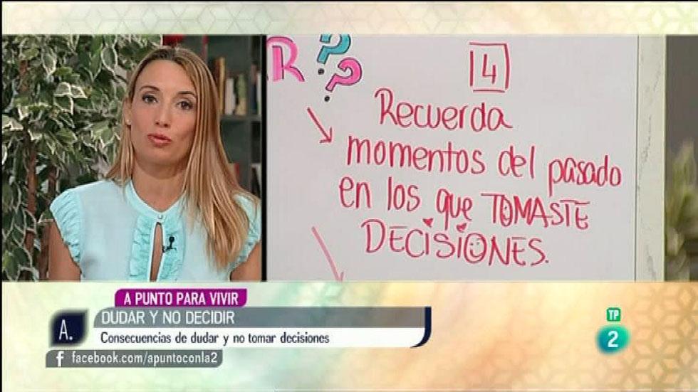 A punto con La 2 - A punto para vivir - Patrícia Ramírez - La duda