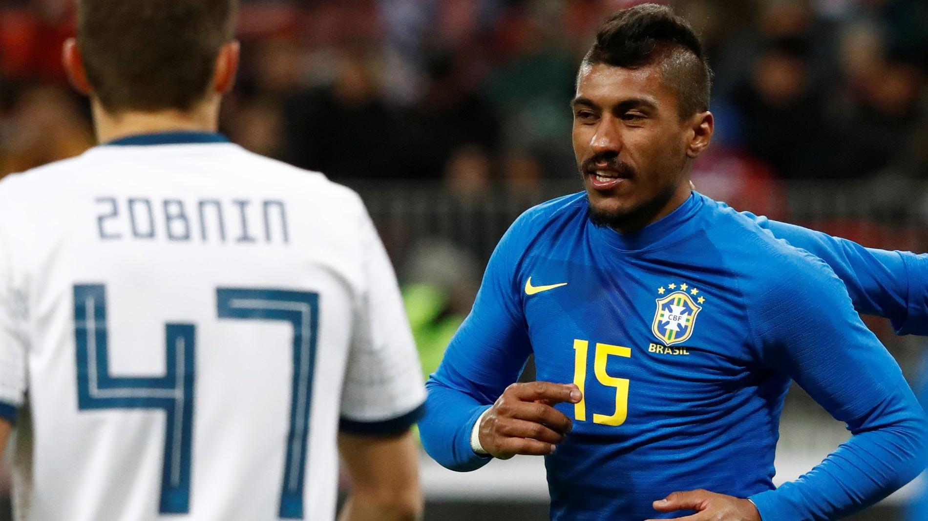 Paulinho sentencia el amistoso ante Rusia (0-3)