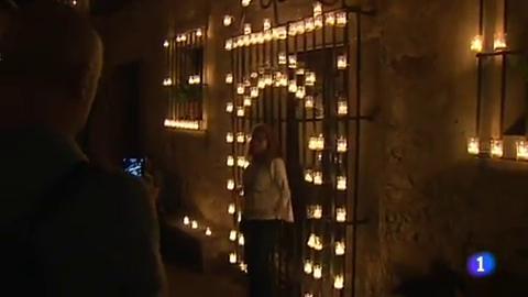 Pedraza, en Segovia, celebró anoche su noche mágica