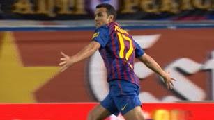 Pedro adelanta al Barça (0-1)