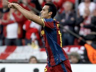 Pedro adelanta al Barça (1-0)