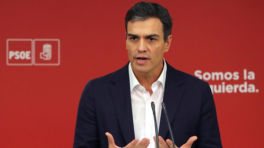 """Pedro Sánchez: """"El artículo 155 debe ser algo que reconstruya el autogobierno dañado por sus dirigentes"""""""