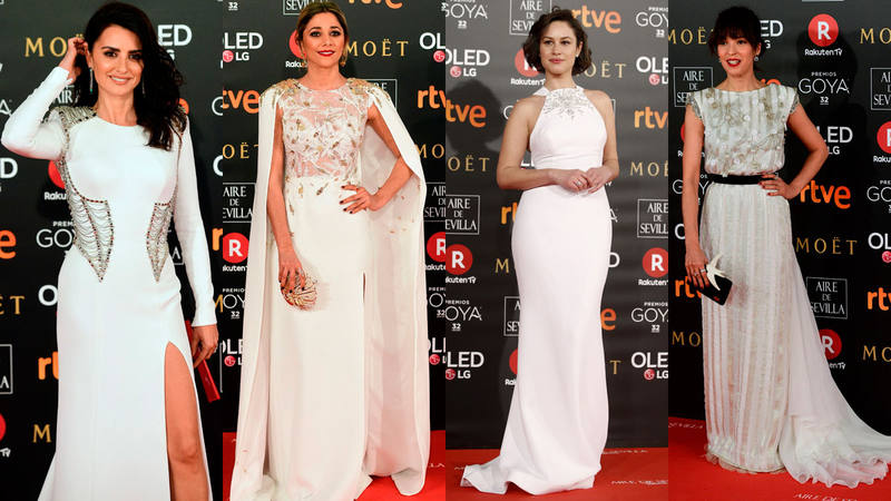 Penélope Cruz brilla de blanco con Atelier Versace