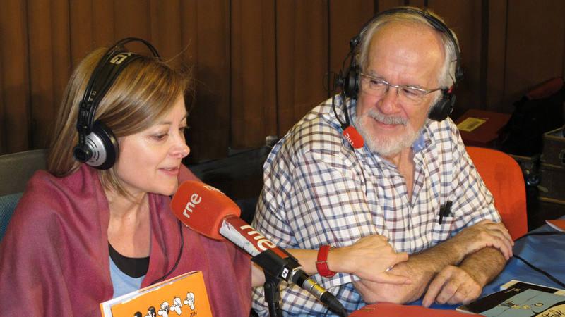 Pepa Fernández con Forges durante la emisión de 'No es un día cualquiera'