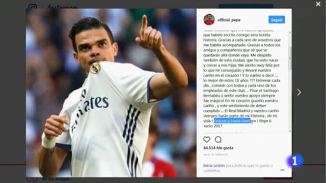 Pepe se despide del Madrid con una emotiva carta