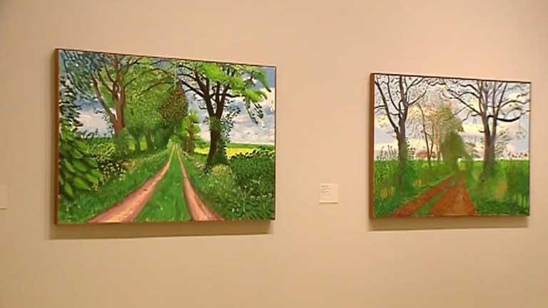 Lo mejor del artista británico David Hockney llega al museo Guggenheim de Bilbao