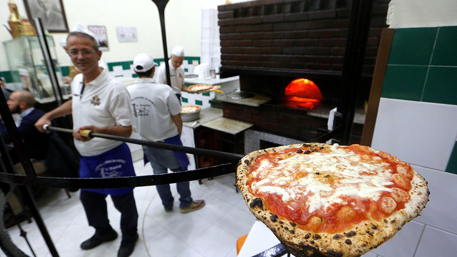 La pizza Napolitana ha sido reconocida como patrimonio Inmaterial de la Humanidad por la UNESCO