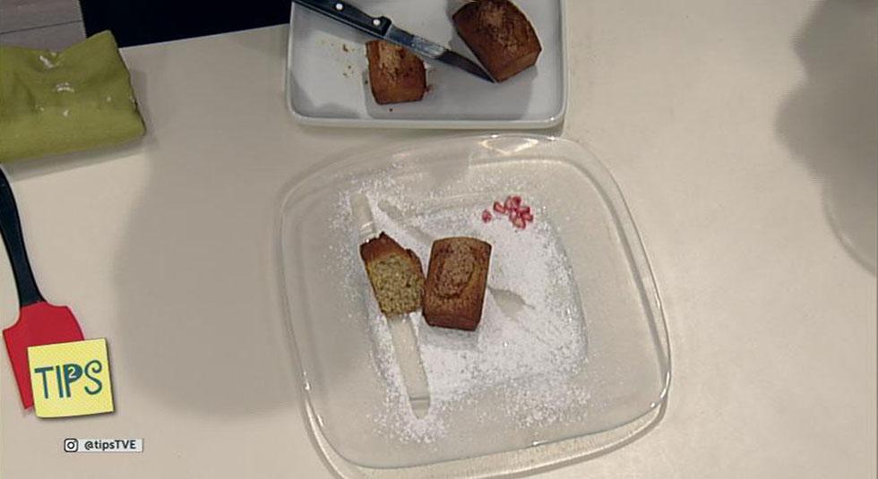TIPS - Receta - Plum cake de plátano