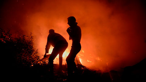 La Policía cree que la mayoría de los incendios de Galicia fueron intencionados