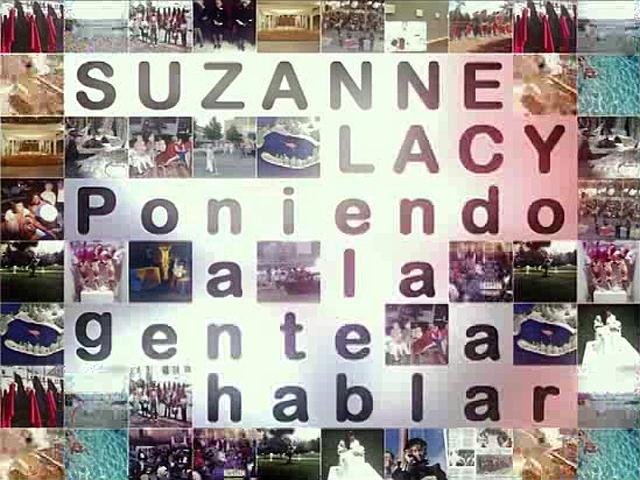 UNED - Suzanne Lacy. Poniendo a la gente a hablar