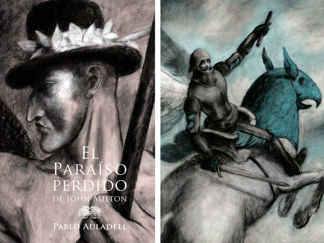 Portada y fragmento de una ilustración de 'El paraíso perdido'