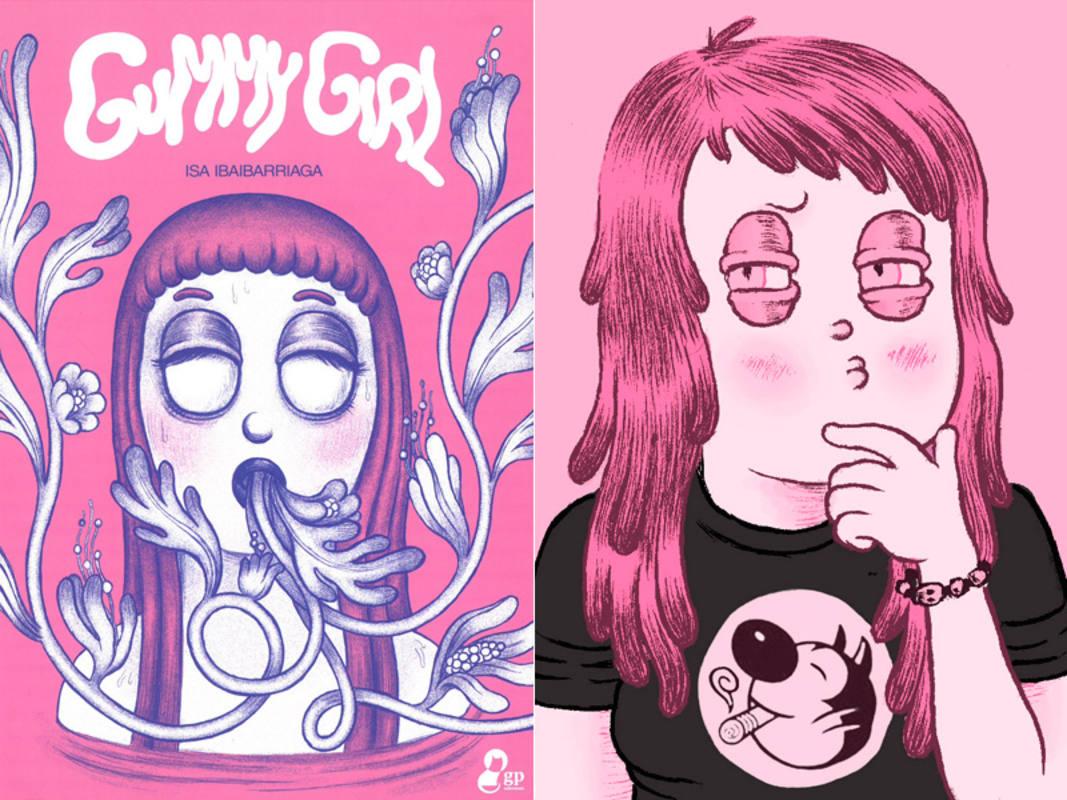 Portada de 'Gummy Girl' y autorretrato de Isa Ibaibarriaga