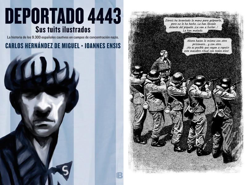 Portada y página de 'Deportado 4443'