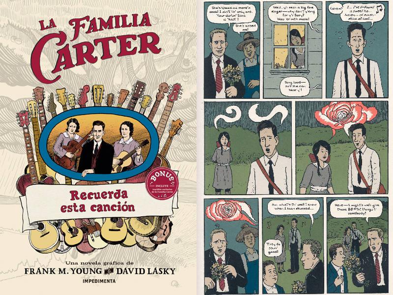 Portada y página de 'La Familia Carter'