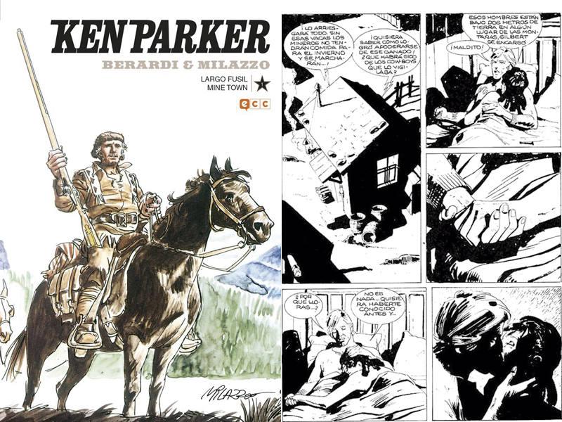 Portada y página de 'Ken Parker'
