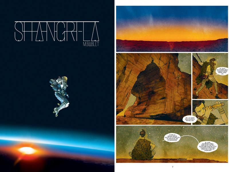 Portada y página de 'Shangri-la'