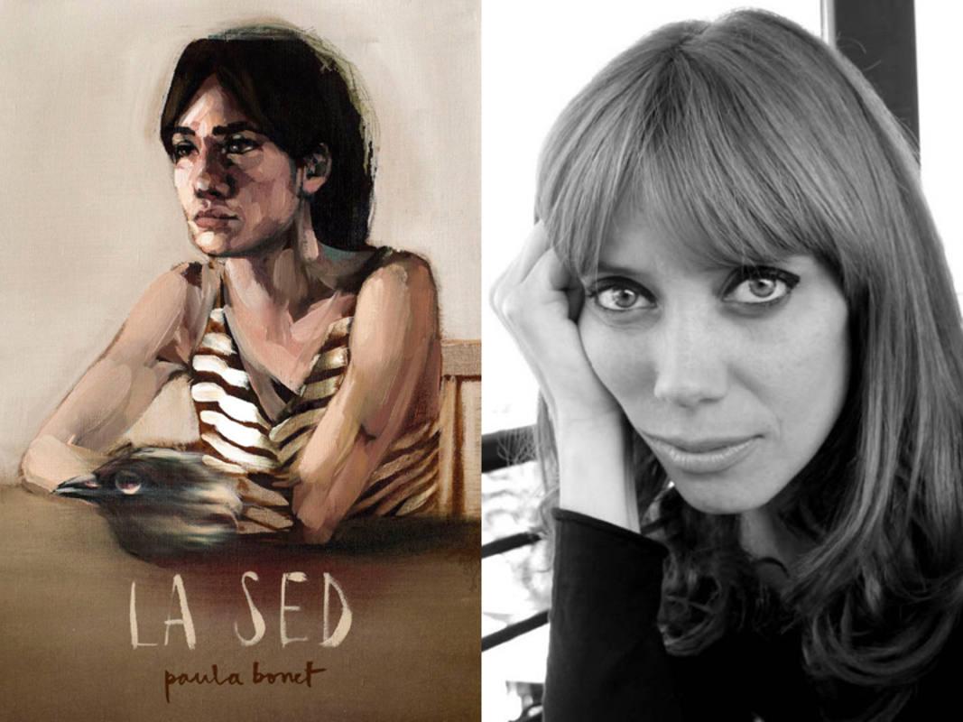 Portada de 'La sed' y Paula Bonet retratada por Guillermo Marorell