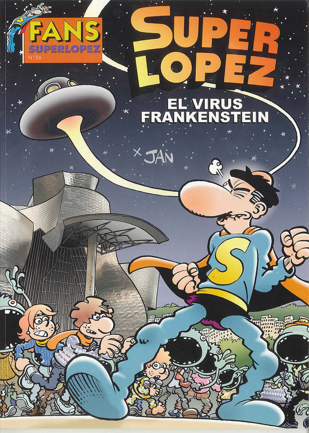Portada de 'Superlópez: El virus Frankenstein', de Jan